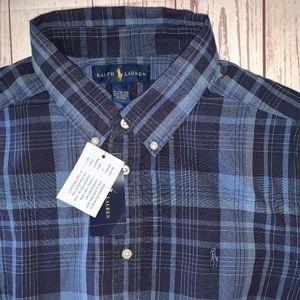 Ralph Lauren Youth Boys XL Button Down Shirt NWT